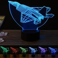Acrylic Space Shuttle Color changing 3D LED Night Light Touch Control Lamp Decorative Holiday Gifts
