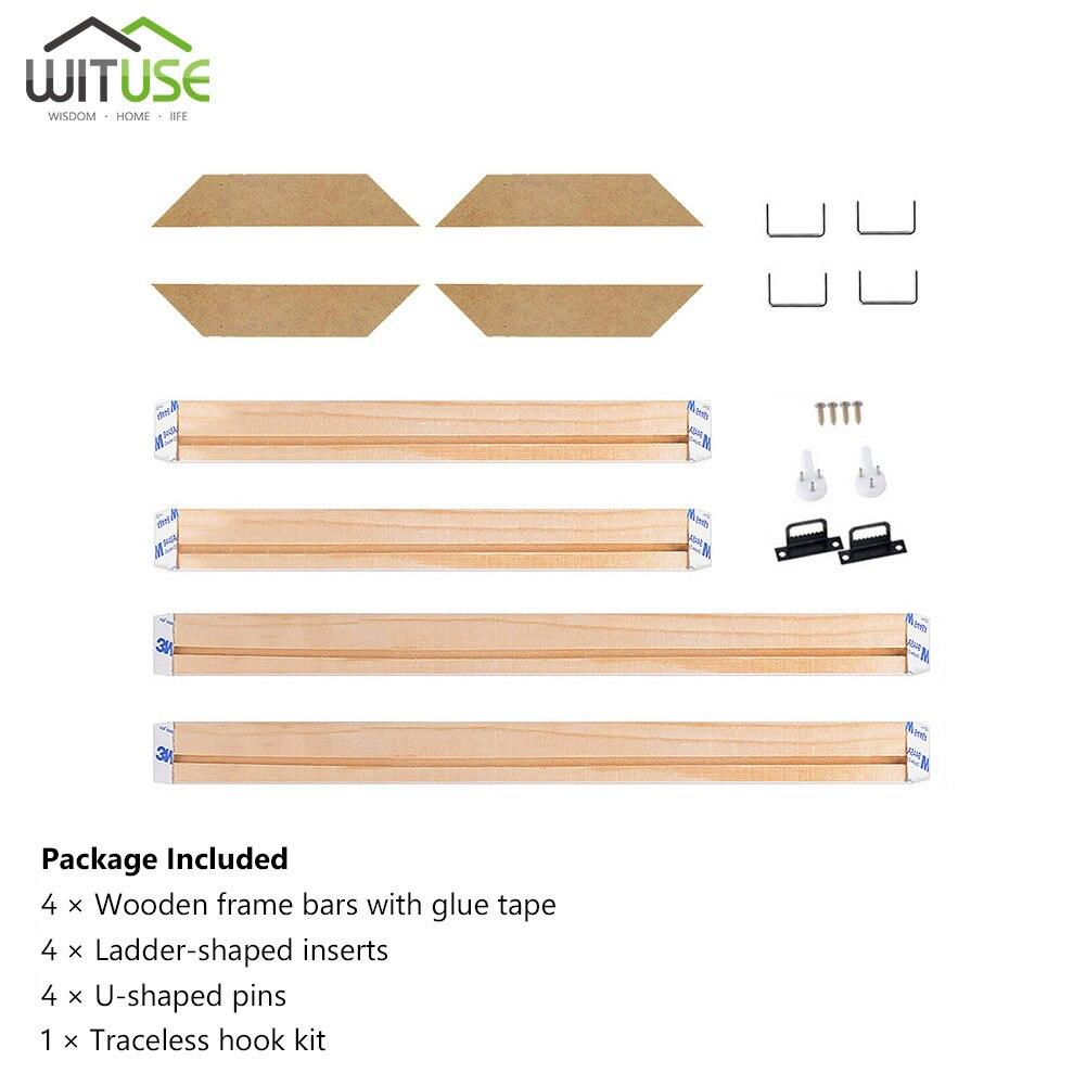 20-60CM DIY Sturdy Frame Wood Bar Stretcher Strip For Canvas Prints Gallery Wall Art