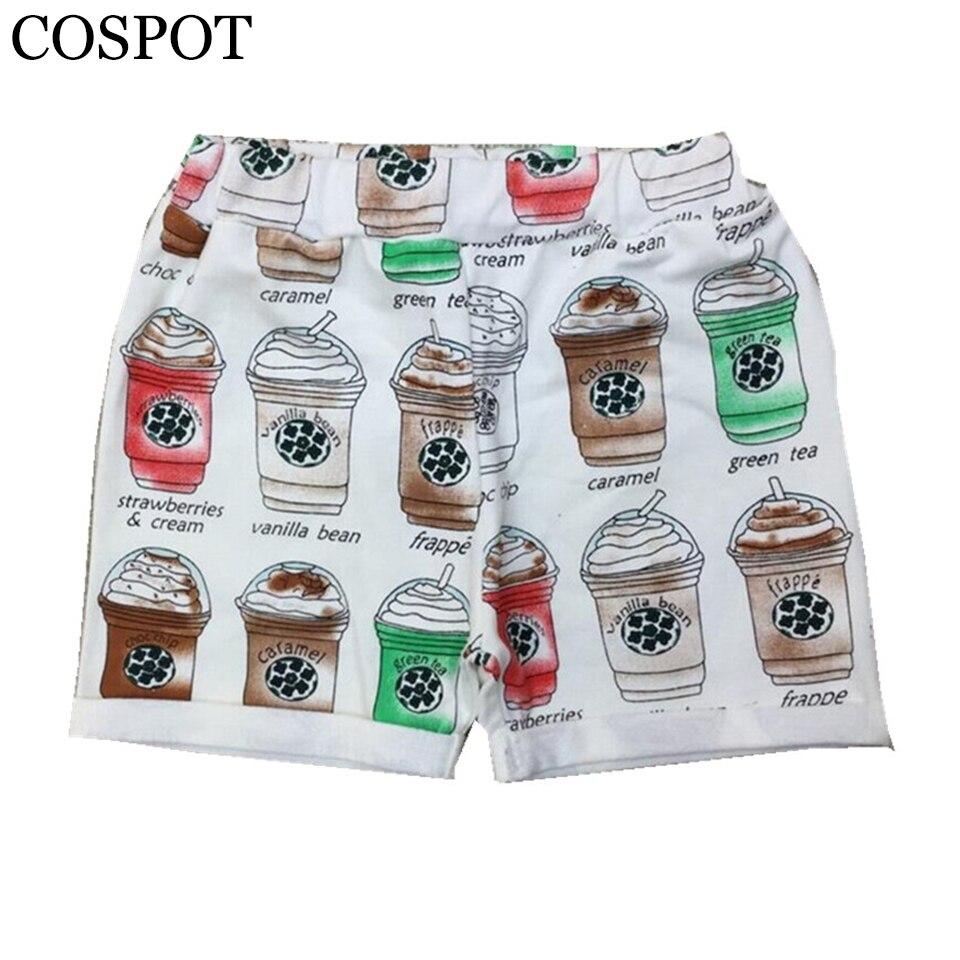 Kojenecké dívky Kávové šálky Tiskové šortky Boy Girl Bavlněné letní krátké kalhoty Dětské děti Roztomilé módní šortky 2-7Yrs 2019 15