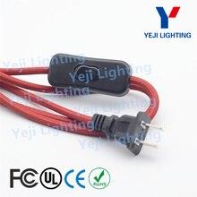 """Яркий кабель в оплетке провод с металлической кнопкой 303 переключатель 2-контактный разъем кабель для настольной лампы, торшеры для осветительных приборов """"сделай сам"""""""
