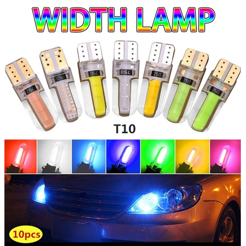 1pc T10 Super Bright Silica Gel COB LED Bulbs Auto Wedge Parking Light Turn Side Lamps Signal/Welcome/Welcome/working Light