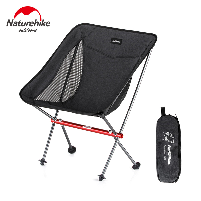 Naturehike Lightweight Outdoor Compact Aluminum Folding Camping Chair Fold Up Fishing Chair Foldable Picnic Chair Sports Chair