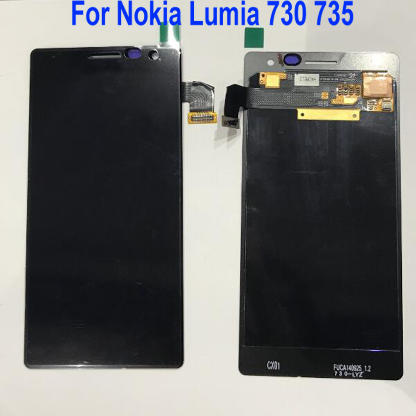 Best Working LCD Display Touch Screen Digitizer Assembly Sensor For <font><b>Nokia</b></font> Lumia 730 735 RM-1038 RM-1039 RM-<font><b>1040</b></font> Phone Parts image