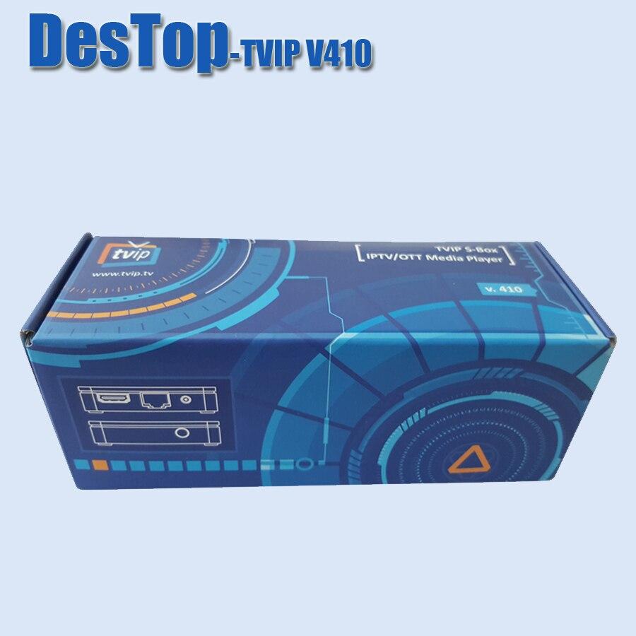 5PCS Lot MINI Set Top Box TVIP V410 V412 wifi Double System Linux Android 4 4