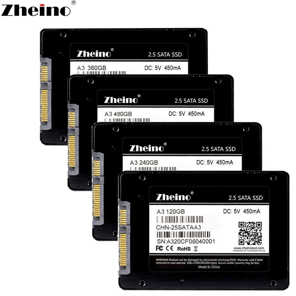 120GB 128GB 240GB Zheino S1 2.5 inch SATA 256GB 32GB 64GB SSD SATAIII Internal Solid state Drives 480GB 512GB Hard Disk Drives