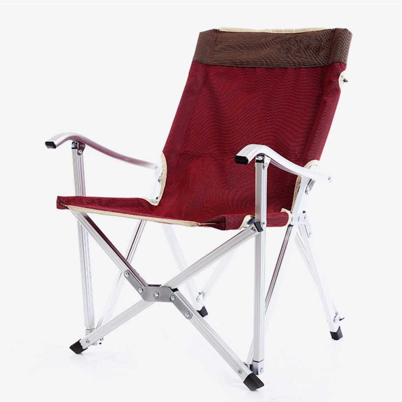 SUFEILE складной стул для рыбалки Портативный алюминиевый сплав пляжный складной стул для отдыха Отдых на природе с функцией автоматического управления для стул для барбекю D5