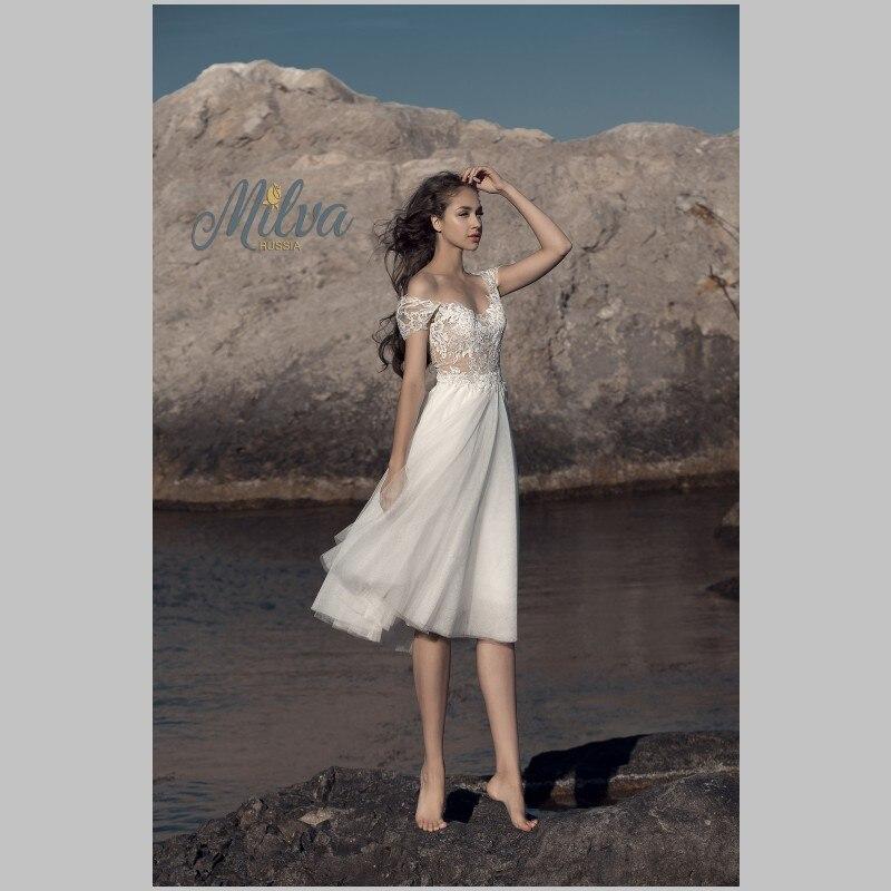 short designer wedding dress
