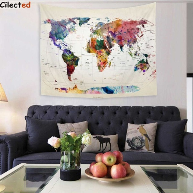 Cilected world map wall hanging tapestry 148x148cm indian mandala cilected world map wall hanging tapestry 148x148cm indian mandala throw blanket bedspread dorm living room decor gumiabroncs Choice Image