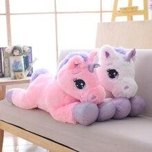 1PC 80CM Cute Unicorn Plush Toy Soft Stuffed Cartoon Unicorn Dolls Animal  Horse High Quality Gift 463c51277daf