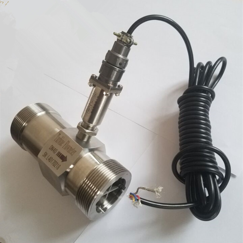 PLC water flow meter diesel flowmeter liquid turbine flow meter sensor transmitter lwgy-40 threaded connection 3