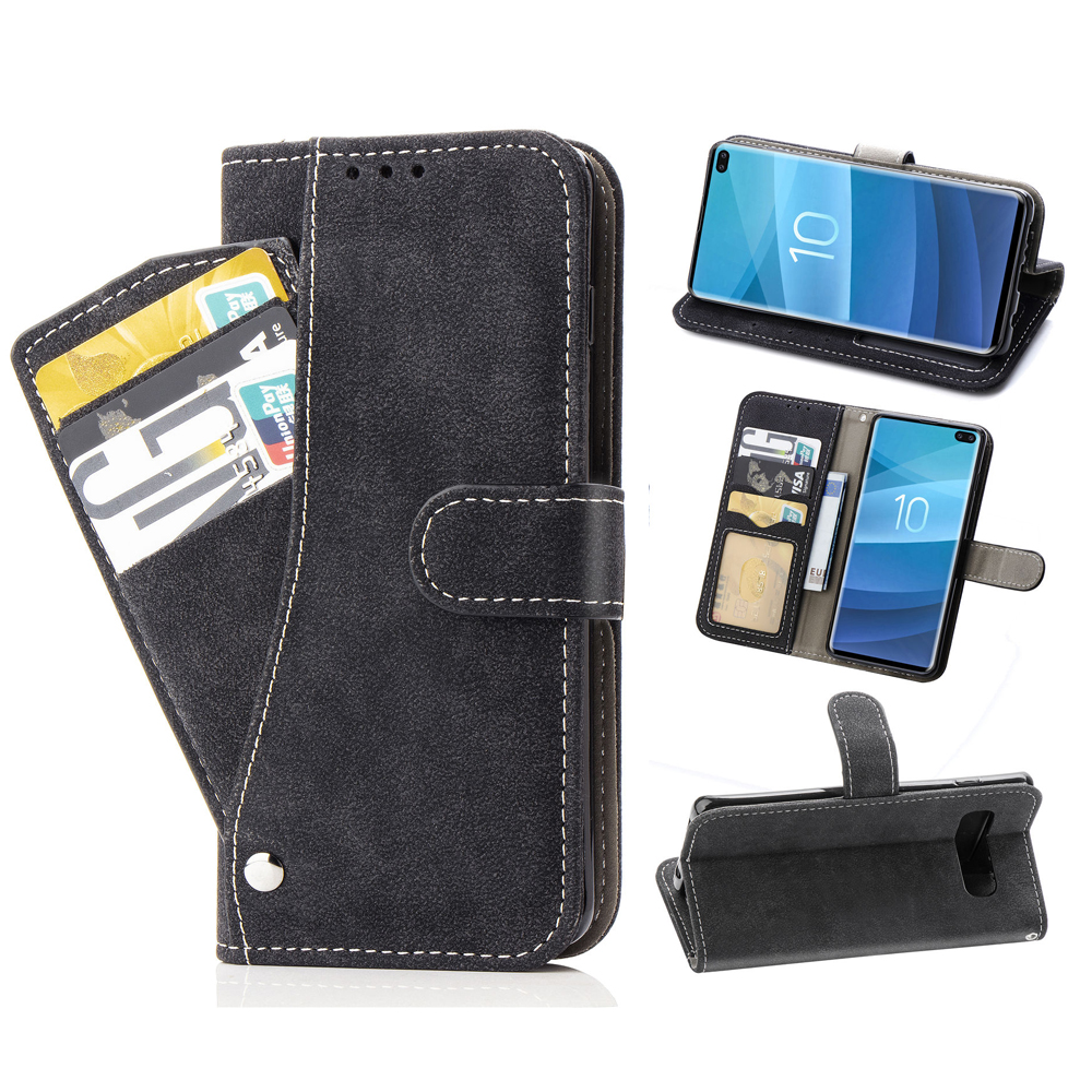 Flip Cover Wallet Leather <font><b>Phone</b></font> <font><b>Case</b></font> For <font><b>Samsung</b></font> Galaxy S10e Lite S10 Plus <font><b>S9</b></font> S8 S7 Edge Note 8 9 S 10 e 7 S8plus S9plus S10plus image