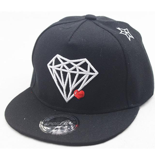 Embroid Diamant Enfants Hip Hop Cap Confortable Réglable Baseball Chapeaux Pour Enfants Garçons Filles Nouveau Mode Enfants Casquettes de Baseball