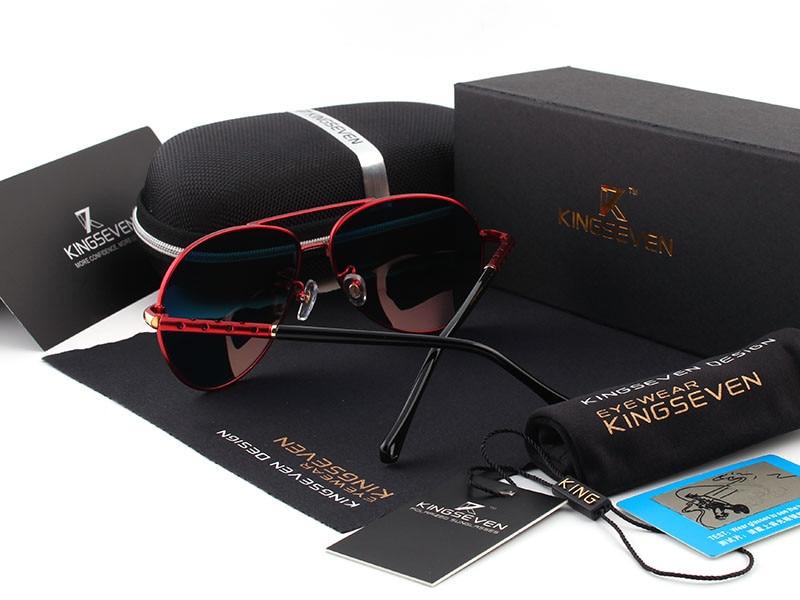 2016 New Arrival KINGSEVEN Polarized Sunglasses Men/Women Brand Designer Male vintage Sun Glasses gafas oculos de sol masculino 12