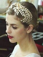 זהב עלה גפן עץ פיות/נושא ים מצנפות שיער קישוט מסיבה/תלבושות אבזר בארה 'נסיכה