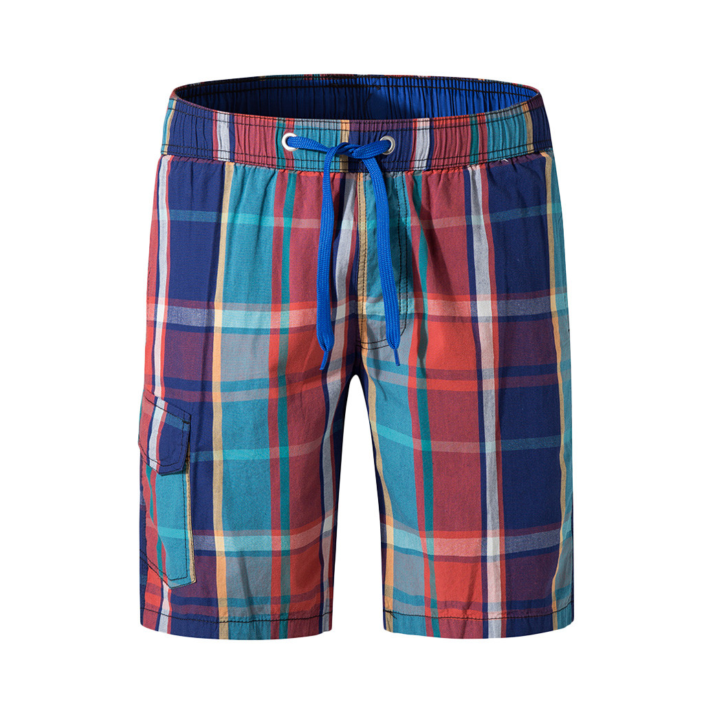 Okoufen Summer Shorts Men Board Shorts 3d Gradient Plaid Men Beach Shorts Men Bermuda Short Quick Dry Silver Mens Boardshorts Latest Fashion Men's Clothing