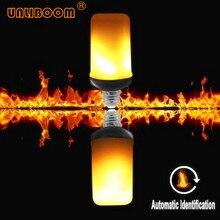 Светодиодный пламени мерцающий светильник 9W E27 E26 Творческий светильник s светодиодный пламени светильник тяжести Сенсор декоративные 3 режима светодиодный огонь светильник 5 шт./лот