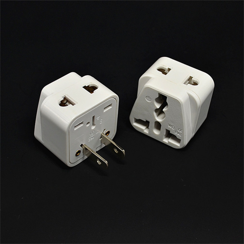 Hot New Promotion 2 pin AC American USA Power Plug Adapter Travel Converter Australia UK USA EU Wholesale
