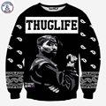 Mr.1991INC Europa Y América de moda los hombres de hip hop sudaderas con capucha de impresión THUGLIFE 2pac Tupac Rapero 3d sudadera sudaderas con capucha