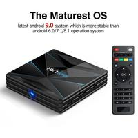 Android 9.0 Set Top Box Android TV Prefix Digital Set top Box HDMI 2.0 2GB+16GB TV Box With Remote Control And HDMI Cable