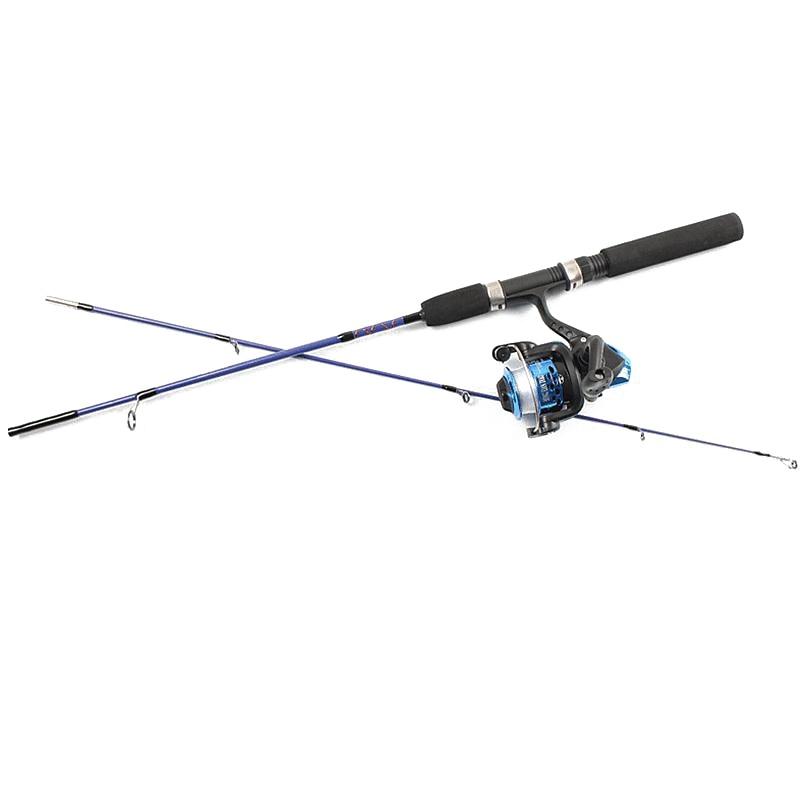 Winter Fishing Line Round Rods Ice Fishing 1.2 / 1.5 Meters Raft Fishing Rods Wheel Sets