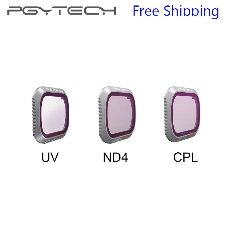 1 unidades PGYTECH opcional Mavic 2 pro filtro UV/ND4/CPL filtro Mavic de DJI 2 Pro lente de la cámara versión avanzada accesorios de filtro