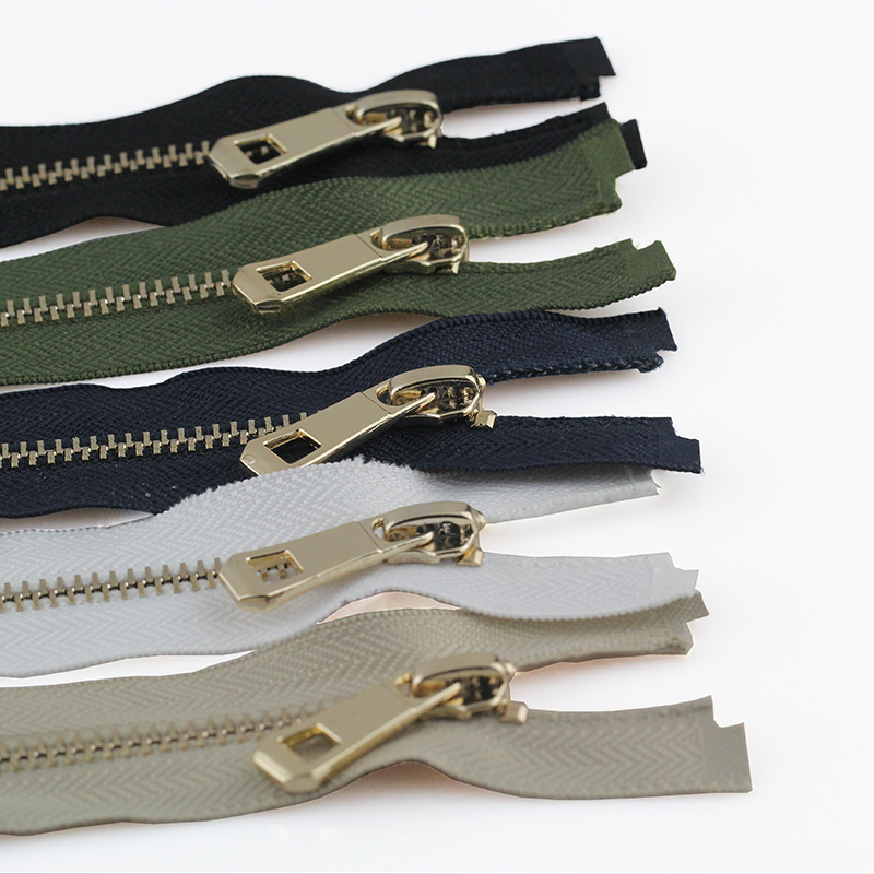 5#  35/45/55/65/75/85cm Open-end Auto Lock Rose Gold Plating Zipper Use For Clothes Shoes Pocket Garment