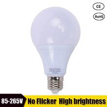 Светодиодная лампа e27 светодиодная лампа b22 3 Вт 5 Вт 7 Вт 9 Вт 12 Вт 15 Вт постоянный ток ac 85-265 в 127 в 220 В без мерцания Светодиодная лампа