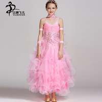 FREE SHIPPING Ballroom Everday Standard Tango Waltz Dance Dress For Gilr