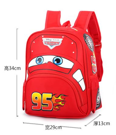 Image 5 - Disney cartoon car children backpack kindergarten girls boys 95 team backpack primary school students 3 6 years old-in Backpacks from Luggage & Bags