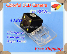 WEIVISION Car rear view camera Reverse camera with 4 LEDs for BMW 3/5 series X3/5/6  E39/46/53/60/61/62/70/71/90/91/92