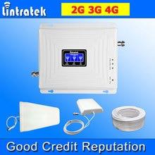 Lintratek Dreibettzimmer Band Zellulären Signalverstärker 2G 3G 4G 900 MHz LTE 1800 MHz 2100 MHz WCDMA Handy Signalverstärker Repeater @