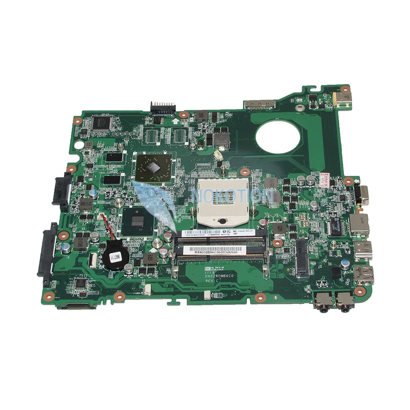 NOKOTION DA0ZRCMB6C0 MBND706001 MB.ND706.001 For Acer eMachines E732 E732Z Laptop Motherboard HD6370M HM55 DDR3 nokotion mb nc806 001 da0zrcmb6c0 rev c mbnc806001 for acer aspire e732 e732z motherboard hm55 ddr3 ati hd 5470