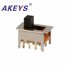 20PCS SS-23F23 2P3T Double pole three throw 3 position slide switch 8 solder lug pin DIP type with 4 fixed pin цены