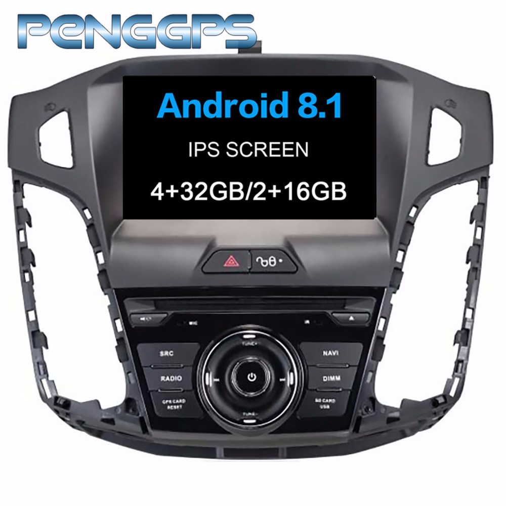 Android 8.1 DVD Player 2 Din Stereo Car Radio for <font><b>Ford</b></font> <font><b>Focus</b></font> III 2012 <font><b>2013</b></font> 2014 GPS <font><b>Navigation</b></font> Autoradio Headunit WIFI FM image