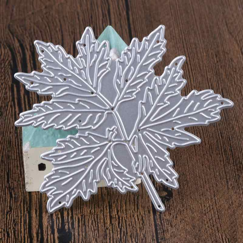 DIY Metal Maple Leaf Pattern Cutting Dies Stencil For Scrapbook Album Paper Card Craft Decorative Embossing Paper Cards