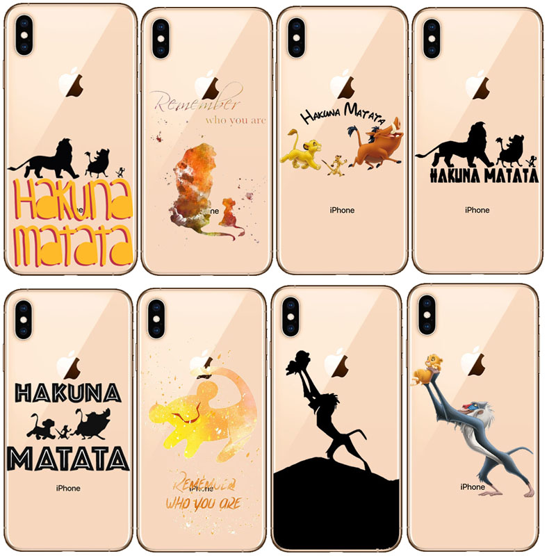 <font><b>Lion</b></font> <font><b>King</b></font> Pumba Hakuna Matata Soft TPU Shell For <font><b>iPhone</b></font> 11 11Pro 5S SE <font><b>6</b></font> 6S <font><b>6</b></font> 7 8Plus Max XS XR X10 Soft silicone cover image