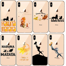 Lion King Pumba Hakuna Matata Lembut TPU Shell UNTUK iPhone 11 11Pro 5S SE 6 6S 6 7 8Plus MAX XS XR X10 Soft Silicone Cover(China)