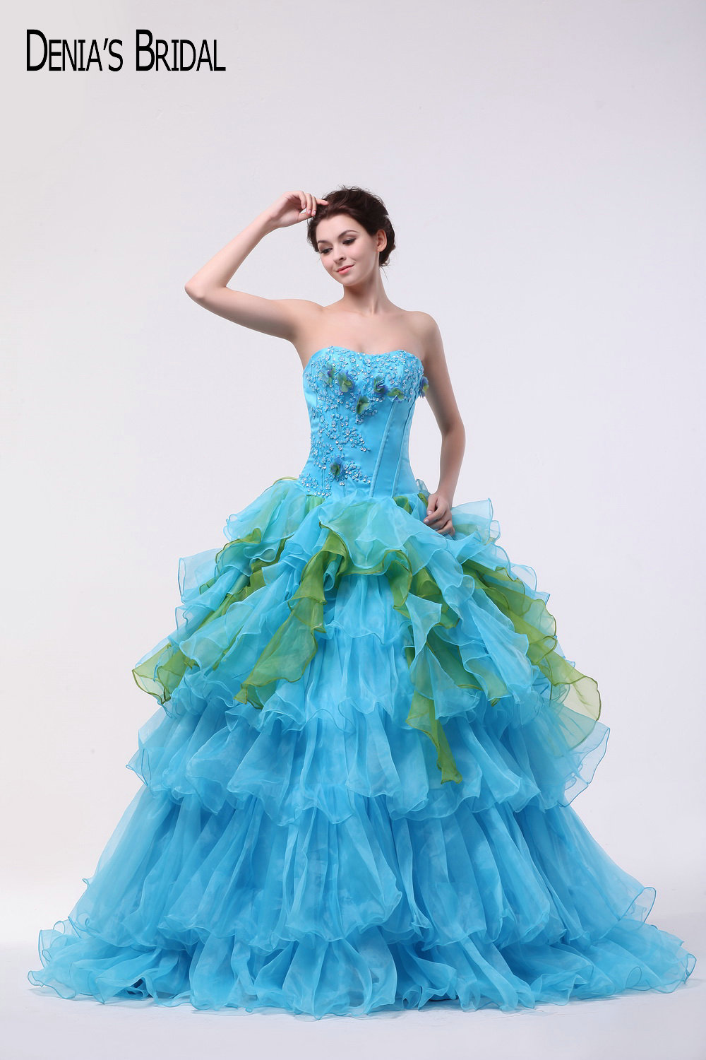Popular Prom Dress with Ruffles Purple and Blue-Buy Cheap Prom Dress ...