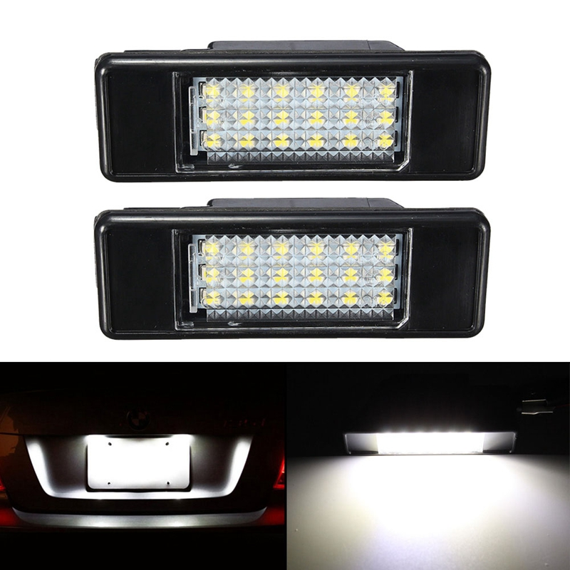 SITAILE 2pcs <font><b>LED</b></font> Number License plate light for <font><b>Peugeot</b></font> 207 308 Citroen Berlingo C2 C3 Pluriel Baujahr 2004 - 2009 C4 C5 C6 image