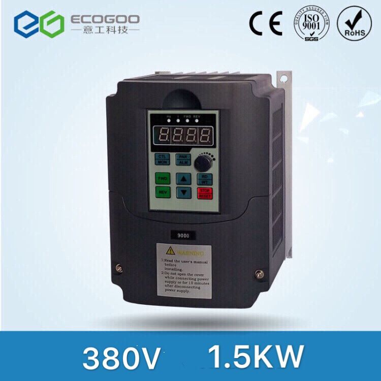 1.5KW 380V AC drive frequency converter spindle inverter VFD Ecogoo variable frequency drive inverters Factory Direct Sales1.5KW 380V AC drive frequency converter spindle inverter VFD Ecogoo variable frequency drive inverters Factory Direct Sales