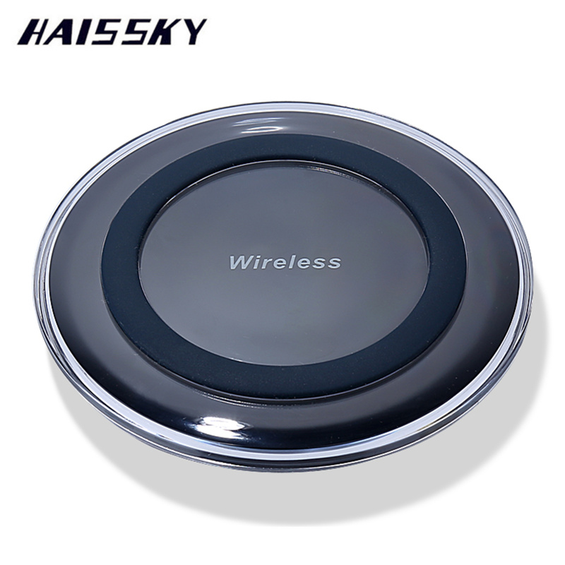 HAISSKY Mini Qi Wireless Charger USB Charge Pad For iPhone X 8 Plus Samsung Galaxy S8 S9 Plus Note 8 Elephone P9000 Doogee S60
