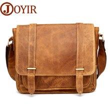 JOYIR Marke Designer Vintage Mannkurierbeutel Echtes Leder Männer Tasche Crossbody Sling Einzigen Männlichen Schulter Tasche
