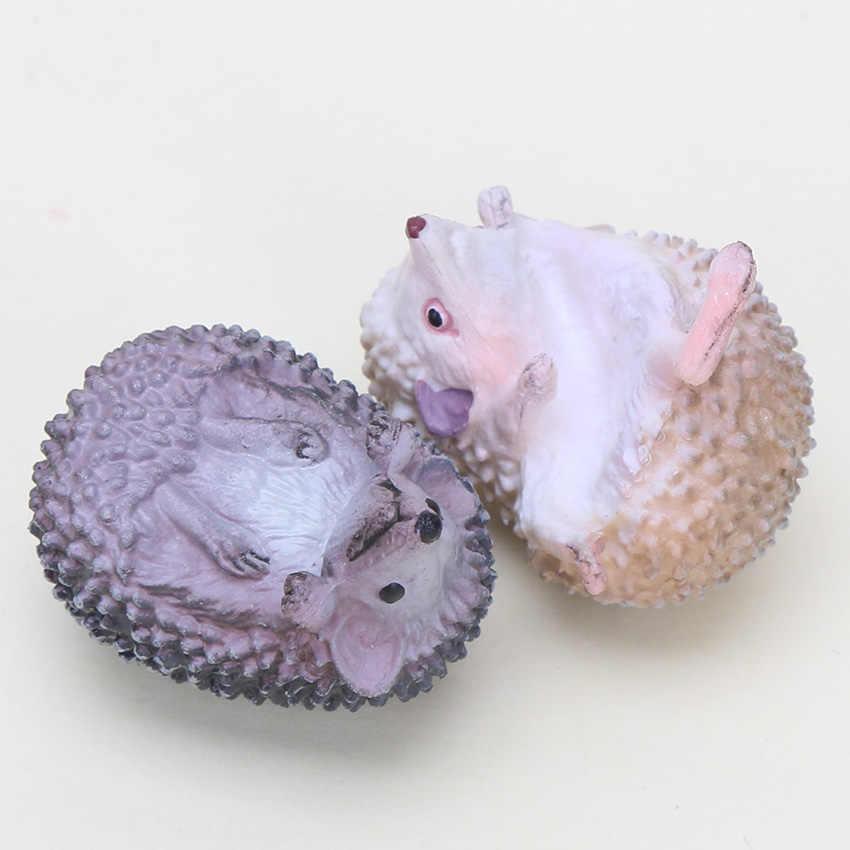 10 conjuntos de 3-4 cm Animais Ouriço Brinquedos Forma de Copo Caneca de Chá Saco de Chá Titular Ferramentas mini Ação bonito figuras brinquedos