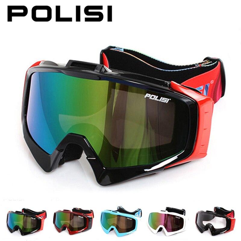 POLISI Зимний Лыжный Снег очки УФ-защита сноуборд Лыжный Спорт Очки Мотоцикл Мотокросс внедорожных горные Байк очки