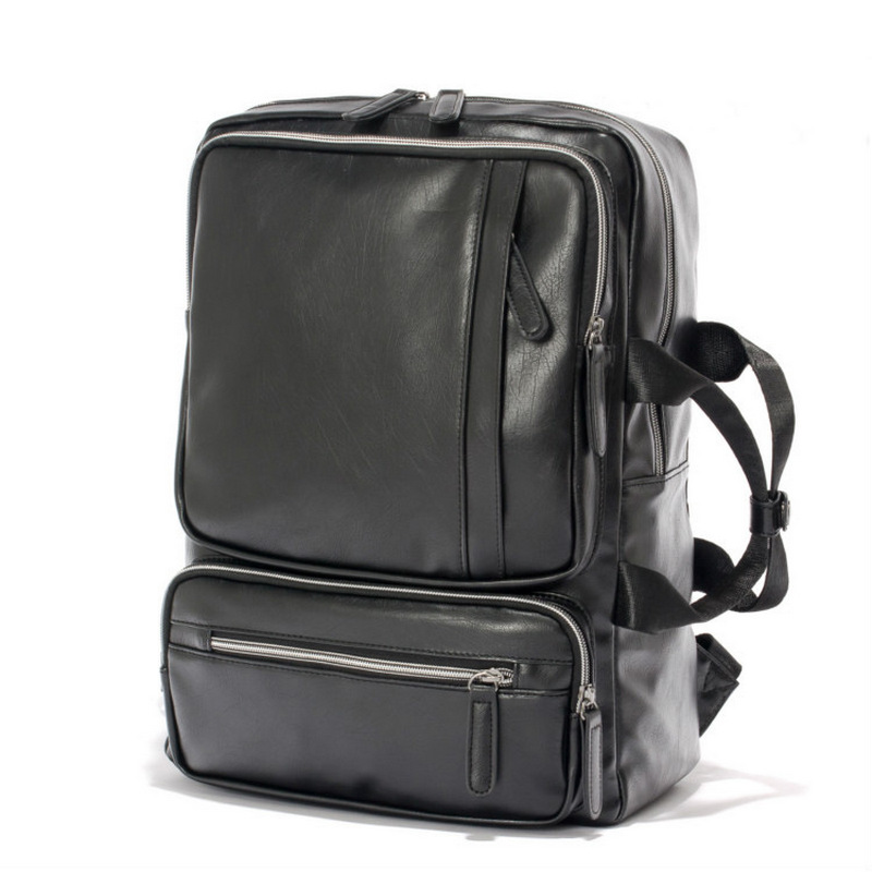 2018 New Arrival Vintage Unisex Backpack Women Pu Retro Travel Backpack Male Casual Back Pack Portable Men 15.6 Laptop Backpack ...