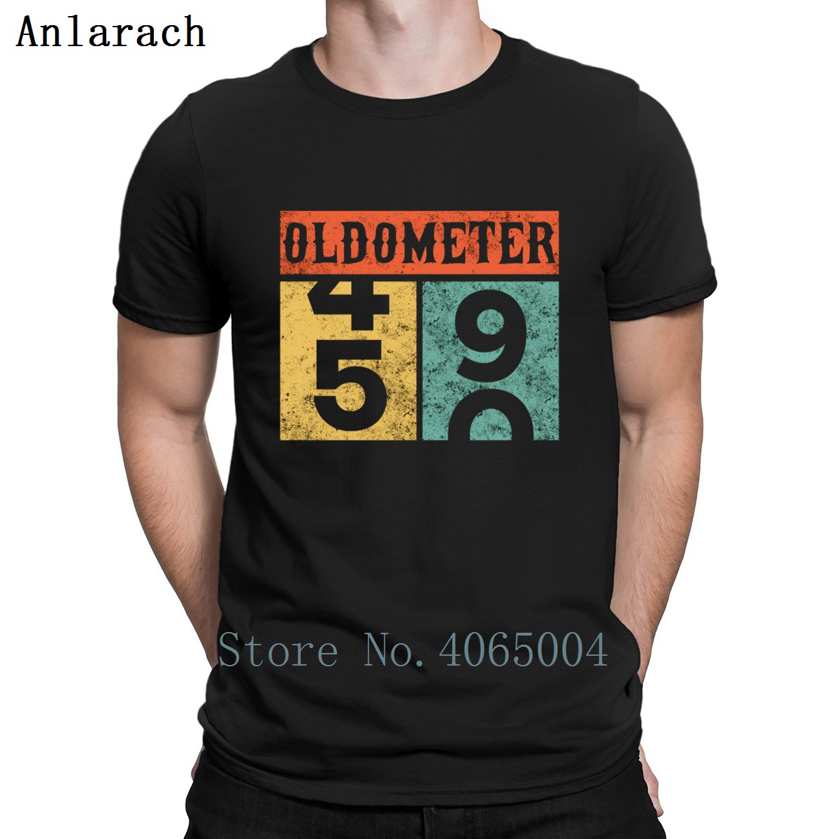 Oldometer 50th Birthday Counting T Shirt Unisex Cotton Spring Printing Round Collar Fitness Natural Comical Shirt