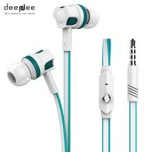 DEEPDEE Deporte AUX Super Bass Auriculares Estéreo de Auriculares Auriculares Con Cable de Juego de Música En La Oreja Los Auriculares para Pc con Micrófono Smartphone