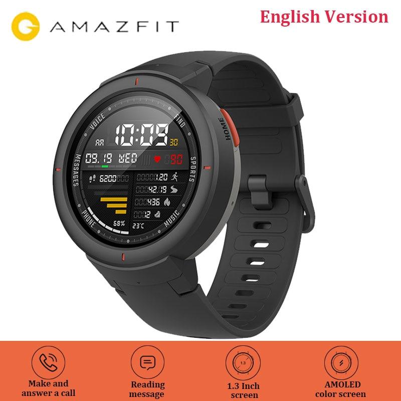 English Version Amazfit Verge Smart Watch Huami GPS Smartwatch 1 3 Inch AMOLED Screen HR Sensor