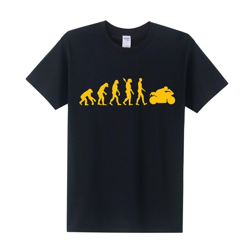 New Fashion Motorcycle Ape to Evolution Men T Shirt Short Sleeve Funny Cotton Motorbike T-Shirt Summer Men Top Tee OT-005