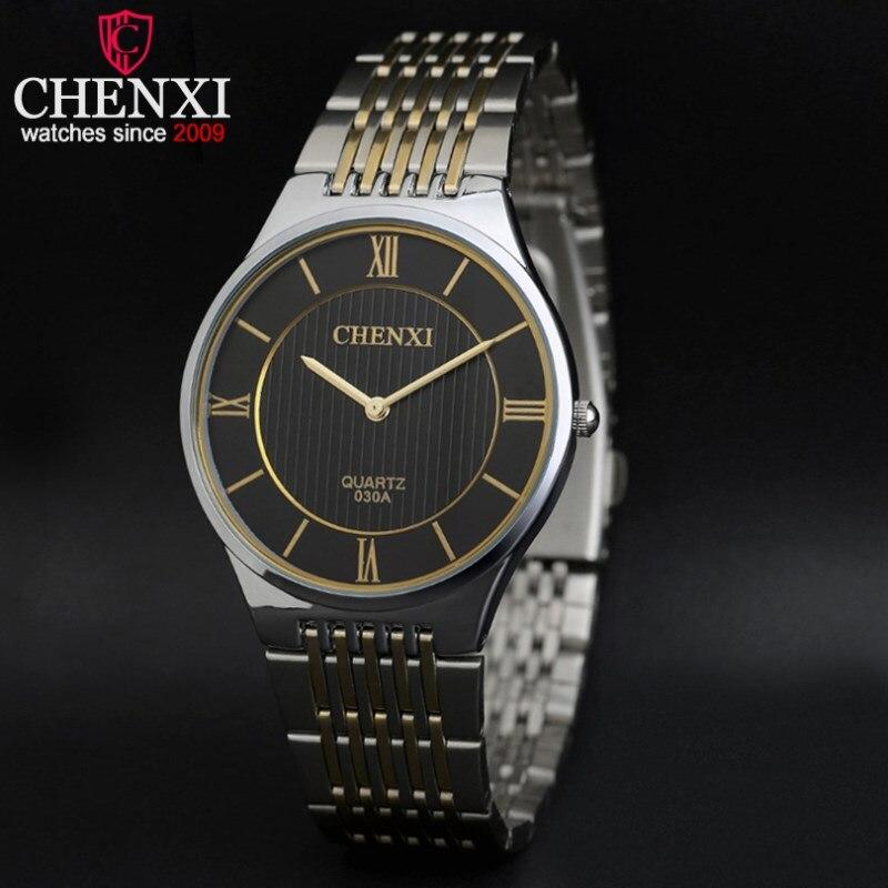 NATATE Business Men Luxury CHENXI Watch Intermetallic Brand Watch Quartz Analog Fashion Sports Stainless Steel Strap Watch 1240 chenxi steel strap tachymeter quartz watch
